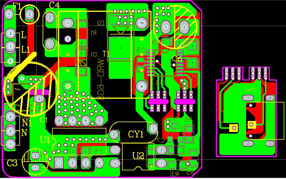 DK125+PD芯片  单C口 18W PD电源芯片方案