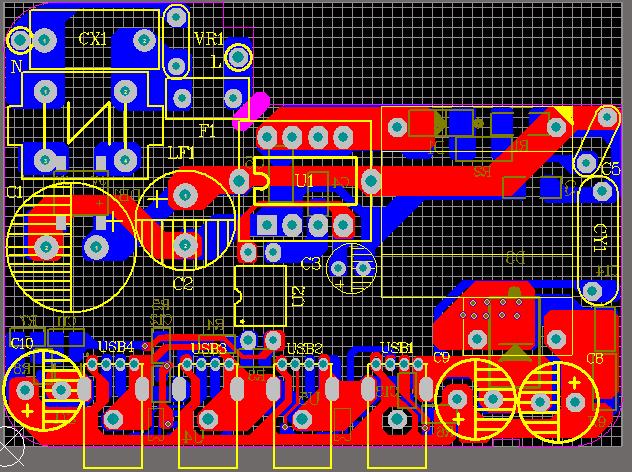 5V4A DK125 DK5V45R10 4USB 充电器方案